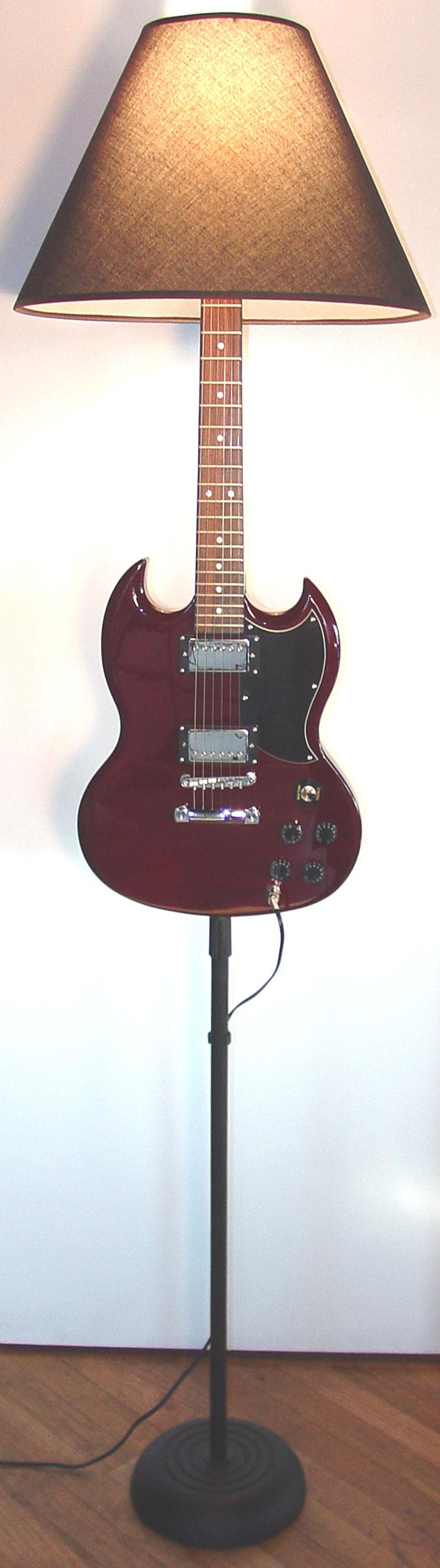 Dan Leap Designed Rock Star Guitar Lamp